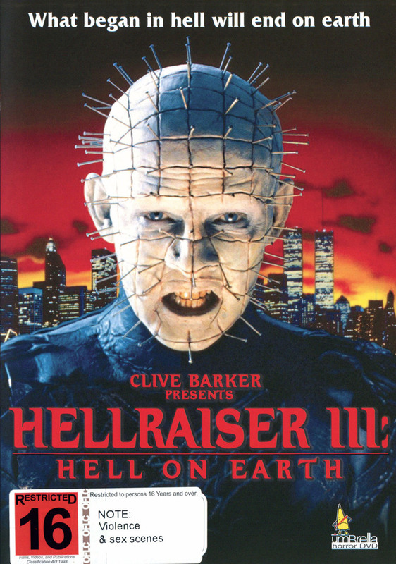 Hellraiser III - Hell On Earth on DVD