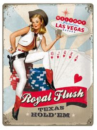 Nostalgic Art: Tin Sign - Royal Flush