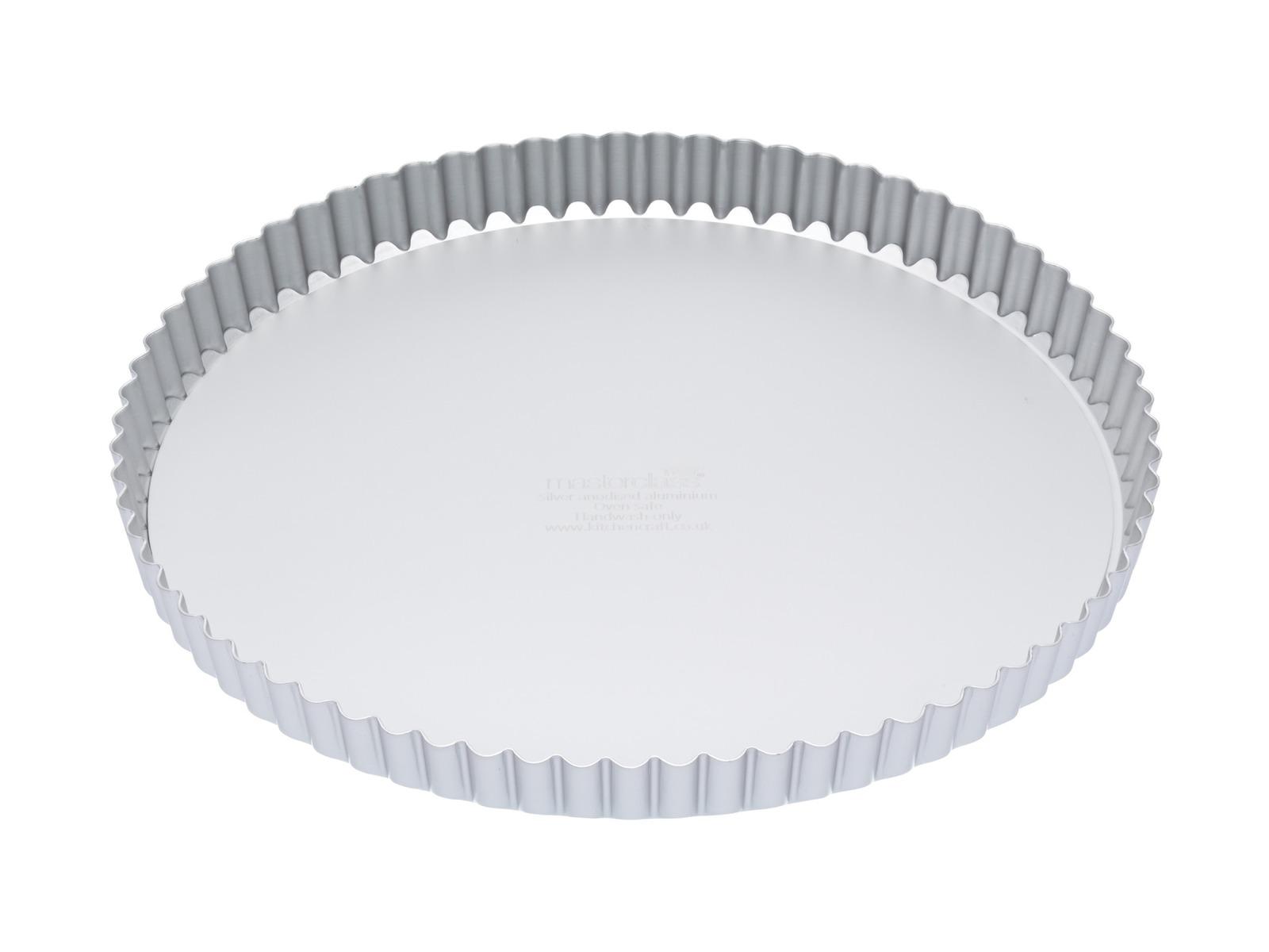 MasterClass: Silver Anodised Round Flan/Quiche Tin (28cm) image