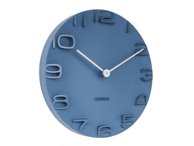 Karlsson Wall Clock on the Edge (Blue)
