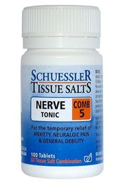 Dr Schuessler Tissue Salts Combination 5 - Nerve Tonic (125 Tablets)