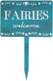 Fairies Welcome - Wooden Garden Sign