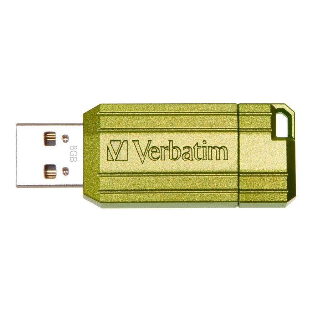 Verbatim Store'n'Go Pinstripe USB Drive - 8GB (Eucalyptus Green) image