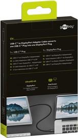 Goobay: USB-C to DisplayPort Adapter Cable (1.2m) - Black