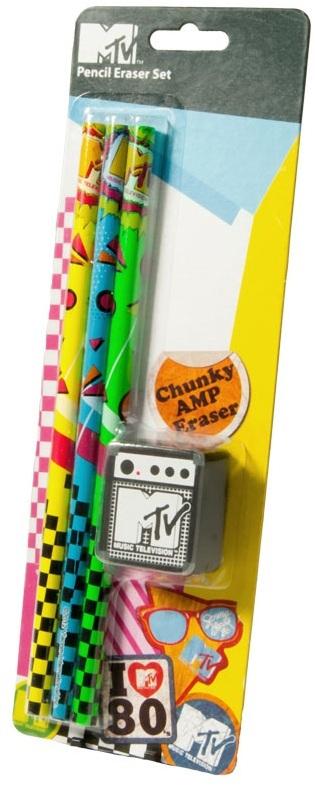 MTV Pencil and Eraser Set image