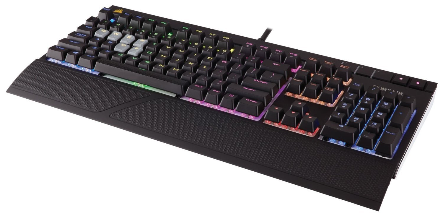 Corsair STRAFE RGB Mechanical Gaming Keyboard (Cherry MX Red) for PC Games image