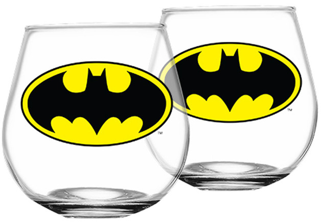 Batman Set of 2 Globe Glasses