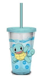 Pokemon Travel Cup (Squirtle Pokeball Confetti Glitter, 16 oz)