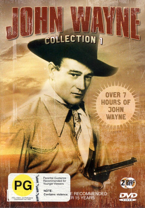 John Wayne Collection 1 (6 movies on 2 discs) on DVD image