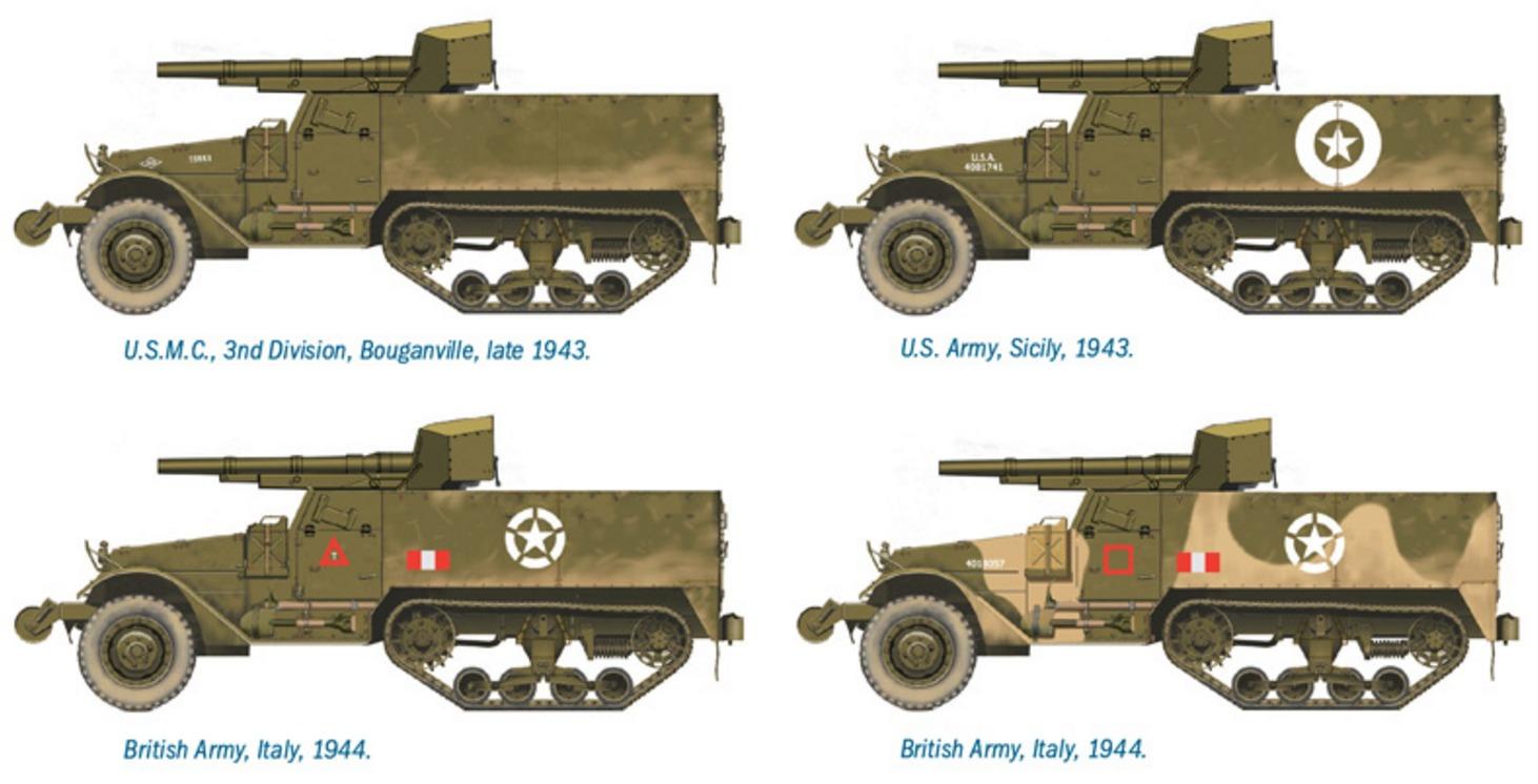 Italeri: 1/72 M3 76mm Gun Motor Carriage - Fast Assembly Kit image