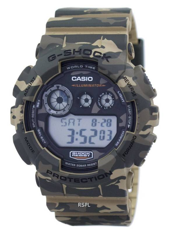 Casio G-Shock Digital Mens Camouflage Series Brown Watch GD-120CM-5