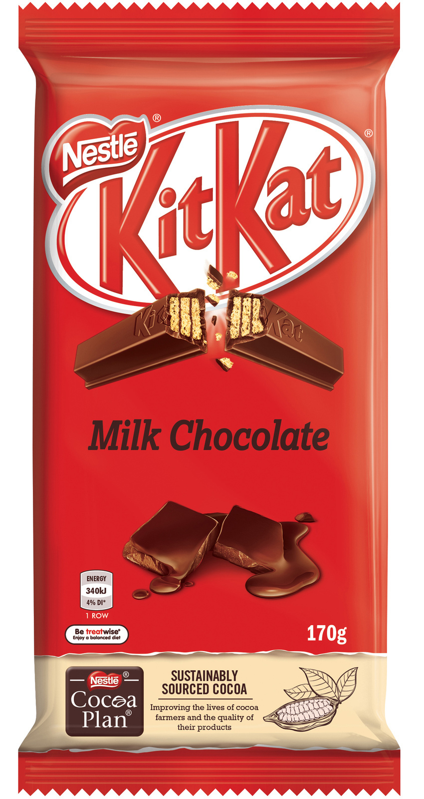 KitKat: Milk Chocolate Block 170g (12 Pack) image