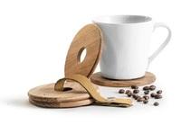 Sagaform: Oval Oak Coaster Set - (4-Pack)