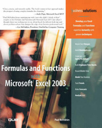 Formulas and Functions with Microsoft Excel 2003 by Paul McFedries image