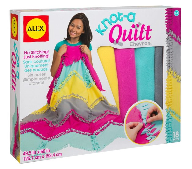 Alex: Craft - Knot-A-Quilt Chevron Kit