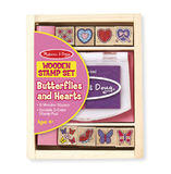 Melissa & Doug: Butterfly and Hearts Stamp Set