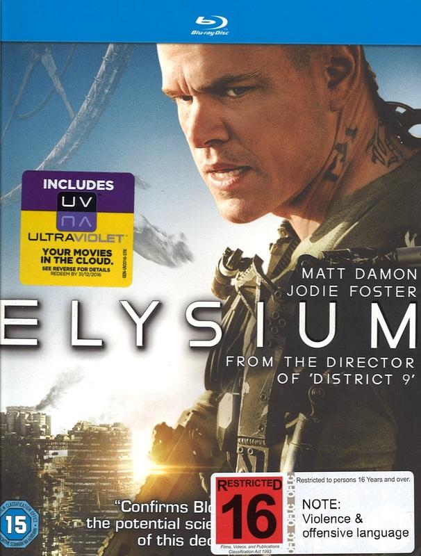 Elysium on Blu-ray