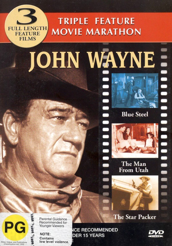 John Wayne Triple Feature (Blue Steel, The Man From Utah, The Star Packer) on DVD image