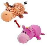 Flip A Zoo: Giraffe & Hippo - 40cm