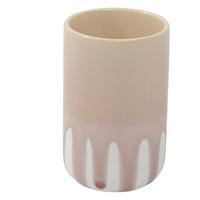 Crackle Glaze Vase - Pink (8x13cm)