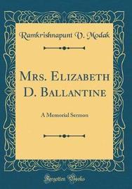 Mrs. Elizabeth D. Ballantine by Ramkrishnapunt V Modak image