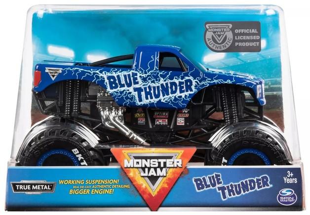 Monster Jam: 1:24 Scale Diecast Truck - Blue Thunder