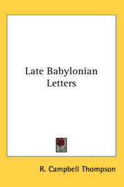 Late Babylonian Letters image
