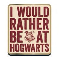 Harry Potter Rather be at Hogwarts Badge