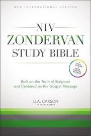 NIV Study Bible Burgundy Bonded Leather by New International Version