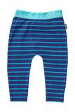 Bonds Stretchy Leggings - Teal Life Stripe (0-3 Months)