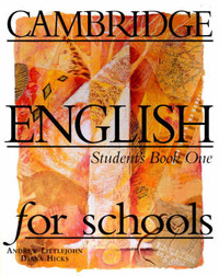Cambridge English for Schools 1 Student's Book: Level 1 by Andrew Littlejohn image