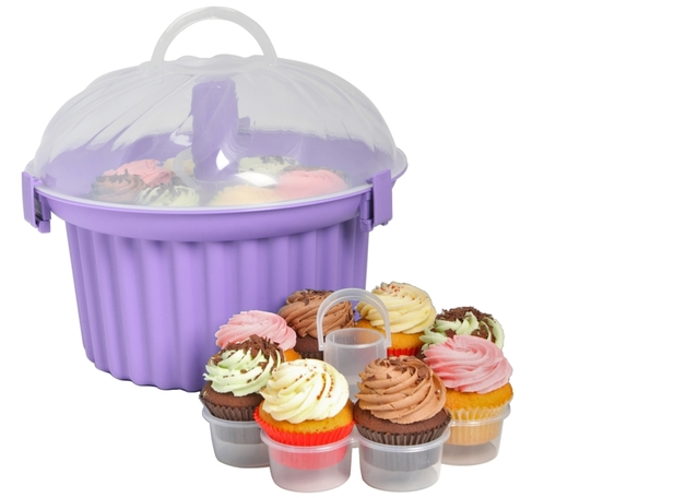 Sweet Creations Lilac Cupcake Carrier