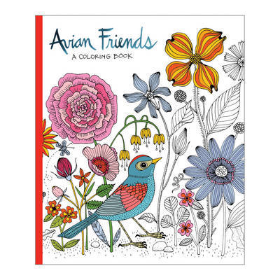 Avian Friends Coloring Book by Galison
