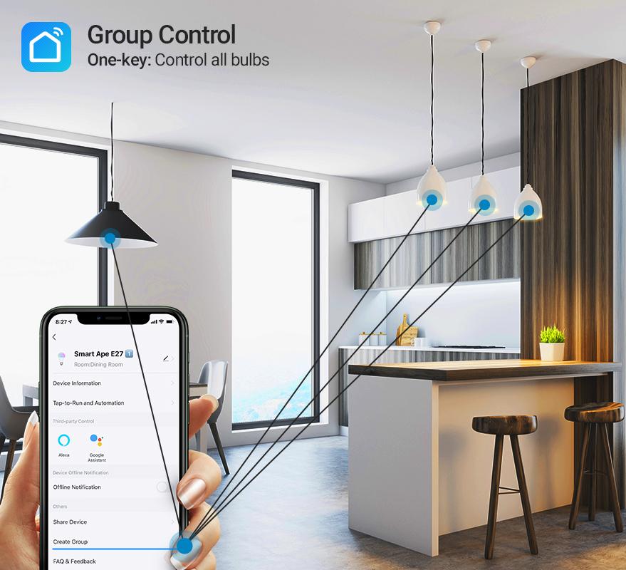 Smart Ape: WiFi RGB & Warm White Smart LED Spotlight (GU10) - 2 Pack image