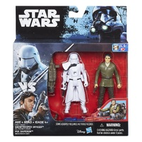 "Star Wars Universe: Snow Trooper Officer & Poe Dameron - Deluxe 3.75"" Figure 2-Pack"