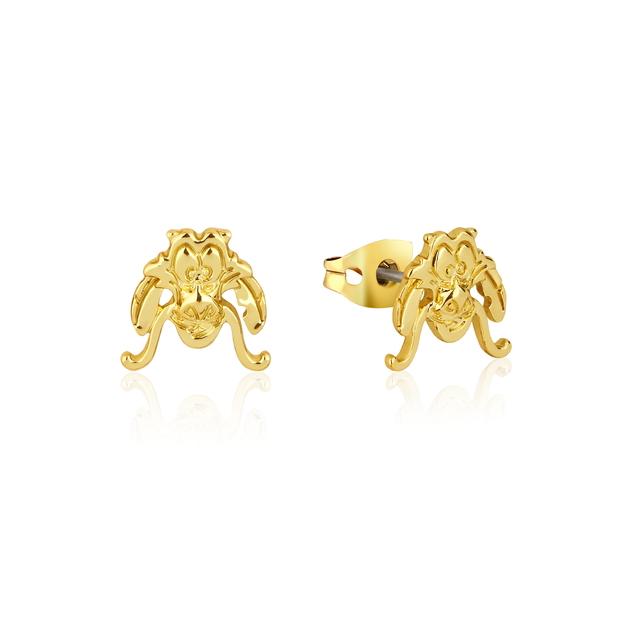 Couture Kingdom: Disney Mulan Mushu Stud Earrings Yellow Gold