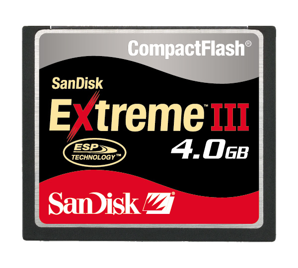SANDISK EXTREME III 133X COMPACTFLASH 4GB image