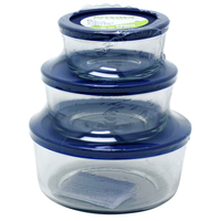Round Containers With Lids - 6 Piece Value Pack
