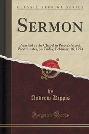 Sermon by Andrew Kippis