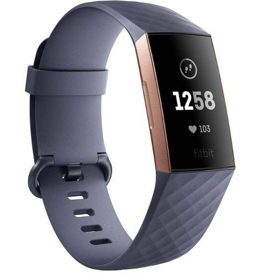 Fitbit Charge 3 Blue Grey / Rose Gold Aluminum image