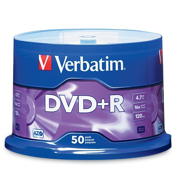 Verbatim DVD+R 50Pk Spindle - 4.7GB 16x