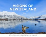 Visions of New Zealand 2018 Desk Easel Calendar