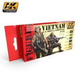 AK Interactive Vietnam US Green & Camo Colour Set