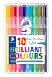 Staedtler: Triplus Broadliner 0.8mm (Wallet of 10)