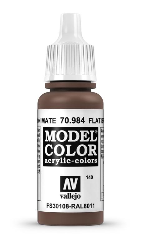 Vallejo Model Colour Flat Brown 17ml