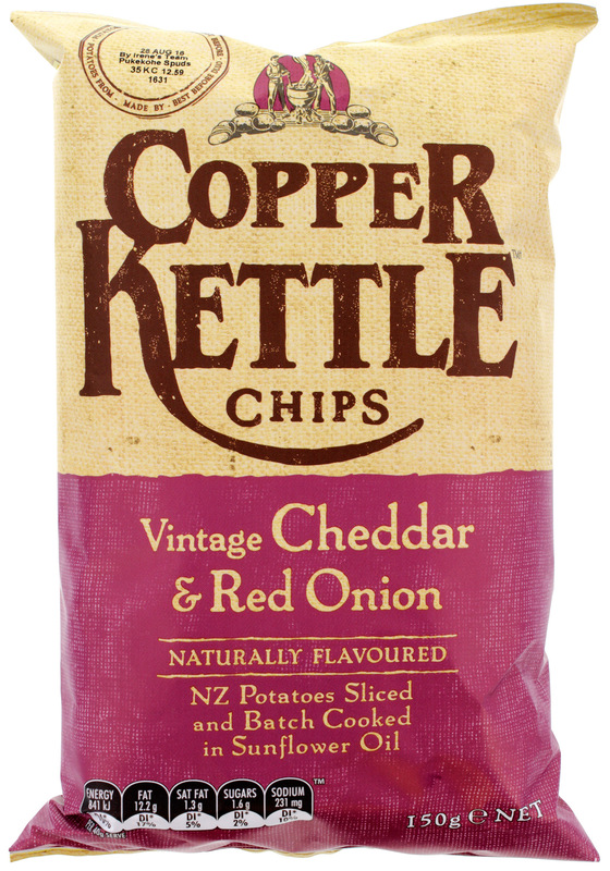 Copper Kettle Potato Chips - Vintage Cheddar & Red Onion (150g)