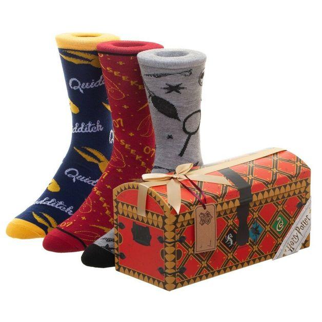 Harry Potter: Quidditch - Men's Crew Socks Set (3-Pack)