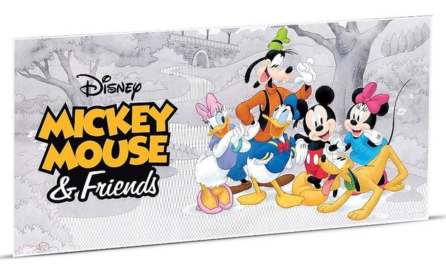 NZ Mint: Disney - Silver Coin Note - Mickey Mouse & Friends (5g Silver)