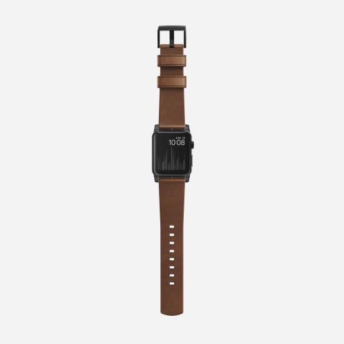 Nomad Horween Leather Strap for Apple Watch 38mm - Modern Build, Black Hardware image