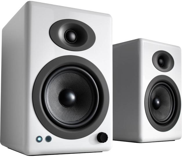 e763e85fe Audioengine 5+ Powered Bookshelf Speakers (Pair) High-Gloss White ...